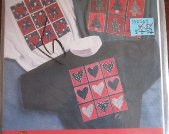 Patchwork Trio Decorated Shirt No-Sew Applique Process Pattern