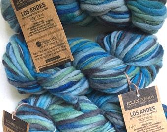 30% Off Merino Super Chunky Yarn Aslan Trends Los Andes Marine Bed 3.5 oz 87 yards
