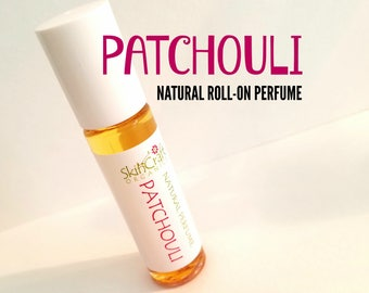 Patchouli Perfume - Roll On Patchouli Perfume Oil - Dark Patchouli Perfume -  .3 oz Glass Roll On Bottle