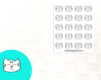 Blah Tiggero Doodle Stickers, Set of 20 Planner Stickers, Bored, Not Amused