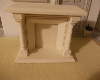 Dolls house fireplace in cream colour 1 12th scale miniature