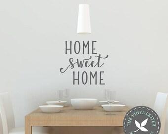 Home Sweet Home   Vinyl Wall Home Decor Decal Sticker