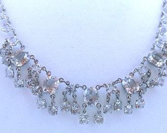 Sparkling Vintage Clear Crystal Necklace