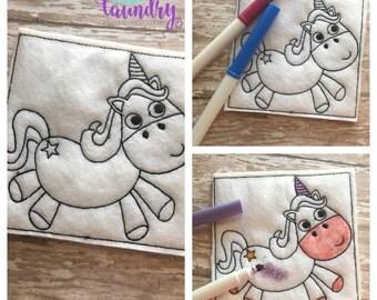 unicorn Reusable Color Pages