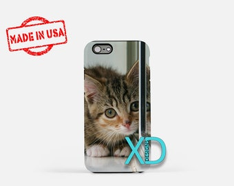 Cat iPhone Case, Kitten iPhone Case, Kitty iPhone 8 Case, iPhone 6s Case, iPhone 7 Case, Phone Case, iPhone X Case, SE Case Protective