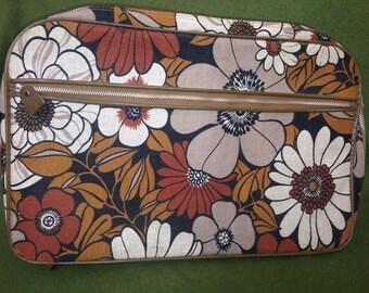 Vtg 60s Mod Hippie Overnight Suitcase Mint
