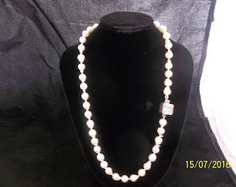 White Baroque Freshwater Pearls with a Vintage Clasp. So Classy and Elegant.