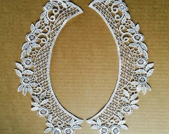 Vintage Guipure Swiss Ivory Lace Collars