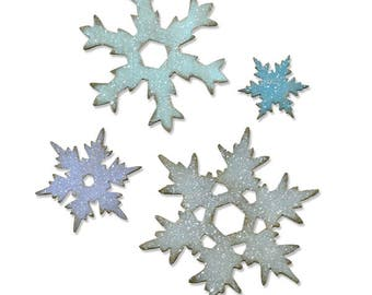 Sizzix - Tim Holtz Alterations - Bigz L Die - Stacked Snowflakes