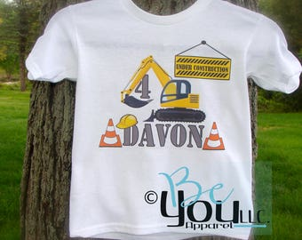 CONSTRUCTION BIRTHDAY shirt; construction birthday; under construction; birthday shirt; novelty shirt; birthday boy shirt; construction