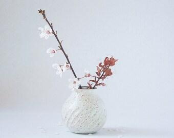 RESERVED for Kristen Hallberg (kberg12): Handmade Ceramic Fluted Bud Vase