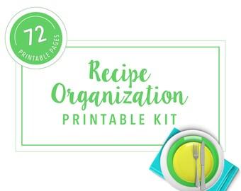 Recipe Organization Printable Kit