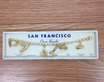 Vintage San Francisco Charm Bracelet, Made in USA