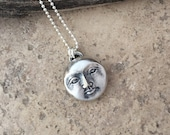 RESERVED, Moon Necklace, Sterling Moon, Handmade Jewelry