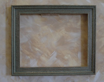 Teal rustic barnwood-styled 8 x 10 wood  photo picture frame art frame