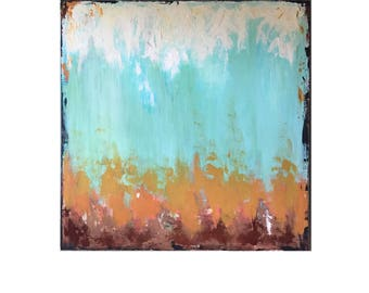 30x30, deep profil gallery wrapped abstract with texture