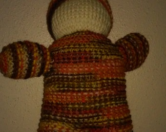 10 inch Hand Knit Gnome Doll