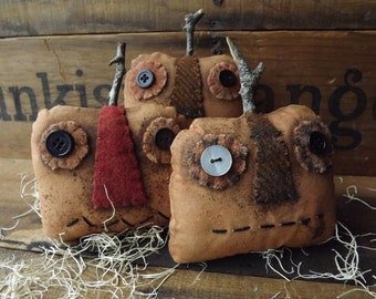 Primitive Pumpkin Bowl Filler Primitive Pumpkin Grungy Halloween Decor Set of 3