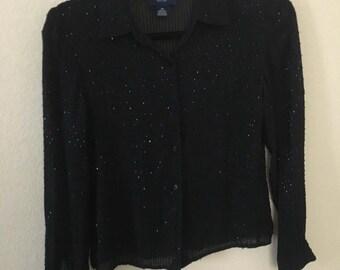 Vintage beaded blouse