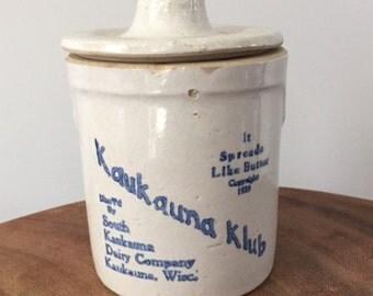 Mid Century Kaukauna Klub cheese crock