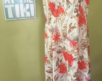 Vintage Summer Maxi Dress, Size Large