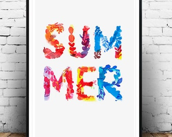 Art print, wall art, summer watercolor, summer print, wall decoration print