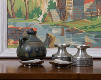 Candle Votive Oil Lamp Collection KMK Denmark Norway Pewter Haugrud