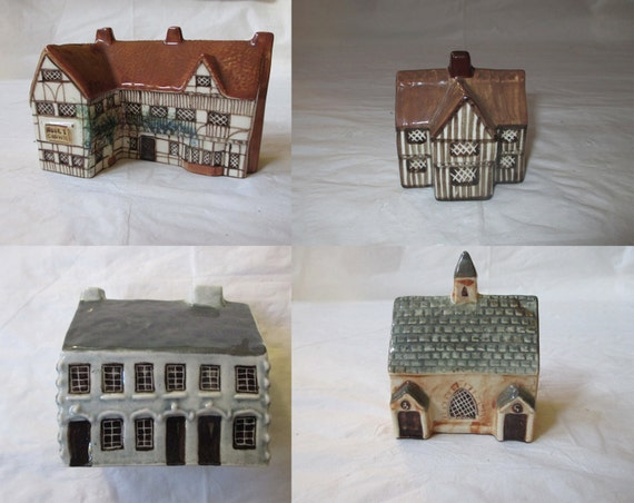4 Suffolk Cottages Mudlen End Studio Pottery, Inn, Half-Timbered House, Merchant's House, Church (c. 1970s), for Around the Corner Hollywood