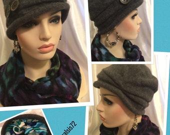 Diva Loves Paris Smoke -Satin Lined Hat