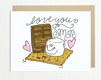 Love You Smore Card - Love & Valentine Card