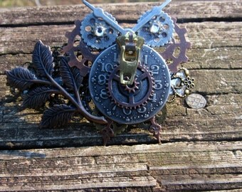 Owl Steampunk Barrette