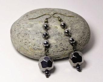 Dangle Earrings Drop Earrings Long Earrings Bronze Beaded Earrings Beadwork Simple Dainty Earrings Gift for her Handmade Fashion Jewelry