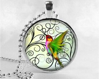 HUMMINGBIRD Necklace Pendant, Hummingbird Jewelry, Humming Bird Jewelry, Abstract Hummingbird