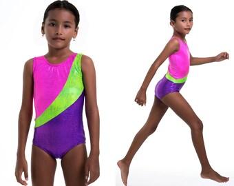 Girls leotard pattern PDF, ballet leotard pattern, gymnastics leotard pattern, girls sewing pattern pdf, dance sewing pattern LEOTARD #12