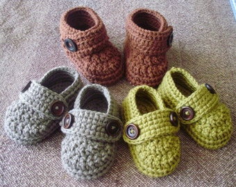 Crochet baby booties made from 100% ORGANIC cotton