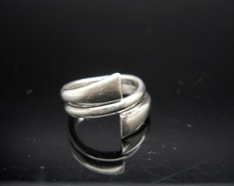 Sterling Silver 925 Split Band Ring Size Tight 6