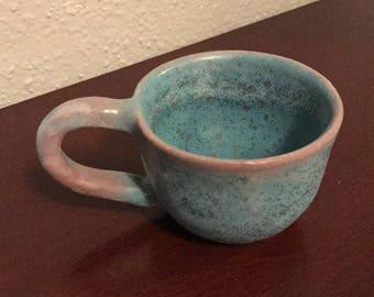 Small blue teacup