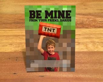 Gamer Kids Valentines, DIGITAL, Custom Photo Valentine Day Cards