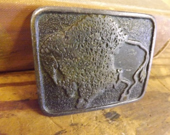 Bison Belt Buckle Buffalo Belt Buckle CDC Metal Works Buckle