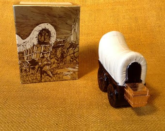 Vintage AVON Covered Wagon with Original Box - Wild Country After Shave