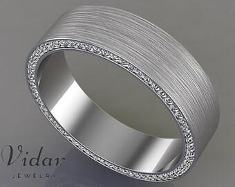 Mens Wedding Band,Unique Wedding Bands,Diamond Wedding band,Wedding Ring,Wedding Band,Unique Wedding Ring,men's wedding band ,Vidar Jewelry