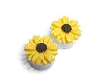 """18mm (11/16"""") Sunflower Ear Plugs"""