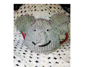 TEA COSY - Hand Knitted Tea Cosy - DUMBO Tea Cosy - Knitted Cozies - Knitted Tea Cosies