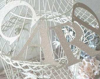 cards garland champagne  glitter cards sign bunting
