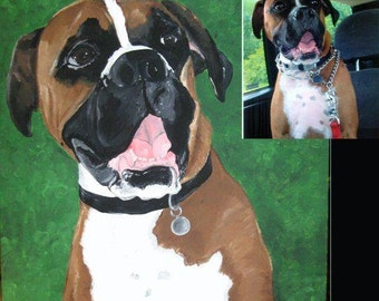 One of a kind Acrylic on Canvas Pet Portraits