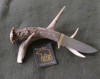 Big Game Short Skinner Hunting Knife with Mule Deer Handle