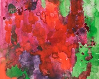 Abstract Colorful Art, Wall art, Art under 50, Interior Design art, Colorful Art, Colorful Wall Art, wall art, Home decor, 16x20, City Art