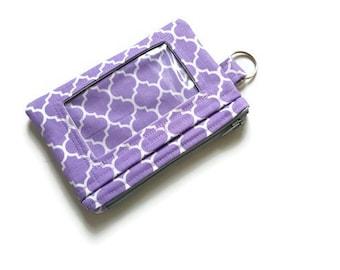 Quatrefoil ID Wallet / Keychain ID Wallet / ID Holder