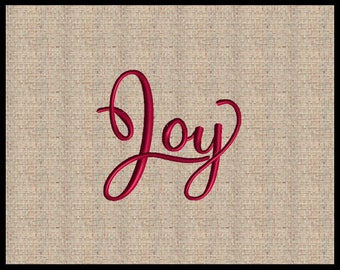 Word Joy Machine Embroidery Design Word Christian Embroidery Design  Christmas Joy Embroidery Design