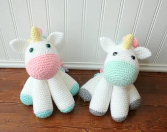 Crochet Unicorn Plush - Large Unicorn Stuffed Animal - Toddler Gift - Baby Shower Gift - Baby Room Decor - Toddler Toy - Baby Girl Gift
